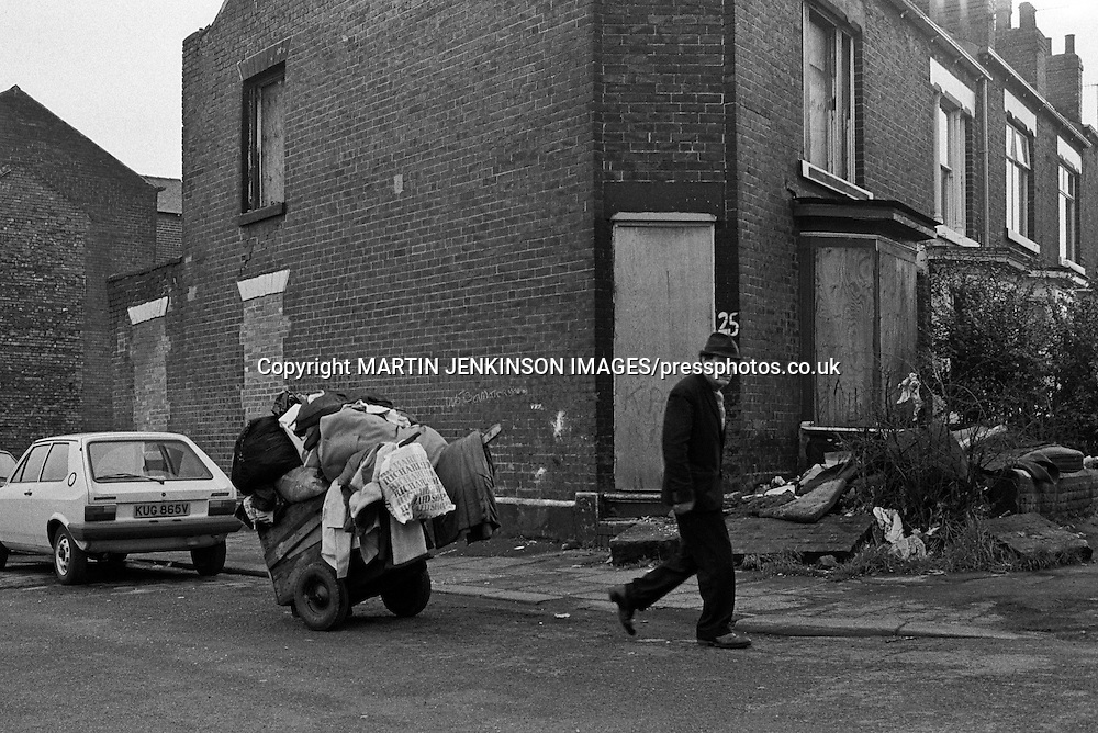 Scrap collector, Sheffield March 1981