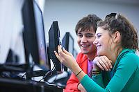 University students using computers