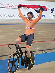 February 28, 2019 - Pruszkow, Poland - Matthijs Buchli (NED) on day two of the UCI Track Cycling World Championships held in the BGZ BNP Paribas Velodrome Arena on February 28, 2019 in Pruszkow, Poland. (Credit Image: © Foto Olimpik/NurPhoto via ZUMA Press)