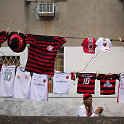 Shirt sellers line the streets during the Flamengo V  Fluminense, Futebol Brasileirao  League match at Estadio Olímpico Joao Havelange, Rio de Janeiro, The classic Rio derby match ended in a 3-3 draw. Rio de Janeiro,  Brazil. 19th September 2010. Photo Tim Clayton