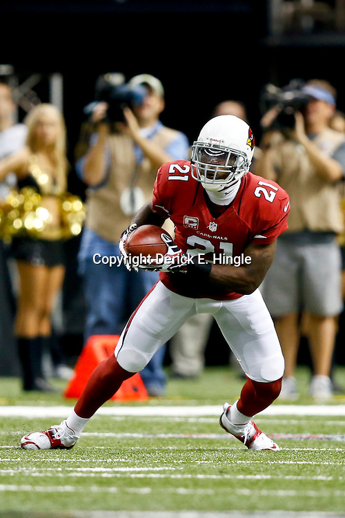 Sep 22, 2013; New Orleans, LA, USA; Arizona Cardinals cornerback Patrick Peterson (21) against the New Orleans Saints during a game at Mercedes-Benz Superdome. The Saints defeated the Cardinals 31-7. Mandatory Credit: Derick E. Hingle-USA TODAY Sports