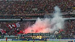 07.05.2011, Commerzbank-Arena, Frankfurt, GER, 1. FBL, Eintracht Frankfurt vs 1.FC Koeln, im Bild Frankfurter zuenden Pyro EXPA Pictures © 2011, PhotoCredit: EXPA/ nph/  Roth       ****** out of GER / SWE / CRO  / BEL ******