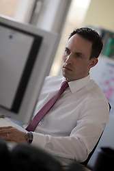 GERMANY HANNOVER 24FEB14 - Fondsmanager Philipp Magenheimer photographed at his workplace at  Wave Management AG in Hannover.<br /> <br /> jre/Photo by Jiri Rezac for Swiss Life Magazine<br /> <br /> © Jiri Rezac 2014