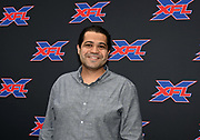 Los Angeles Times sports columnist Arash Markazi attends an XFL news conference, Tuesday, May 7, 2019, in Los Angeles. Play will begin in the eight-team league on Feb. 8-9, 2020 with teams in Dallas, Houston, Los Angeles, New York, St. Louis, Seattle , Tampa Bay and Washington D.C.
