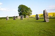 Neolithic stone circle and henge at Avebury, Wiltshire, England, UK