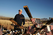 Glenn Spencer of the American Border Patrol, Hereford, Arizona, USA, says that the U.S. Border patrol agents removed signs with notes of support that he attached to the border wall and dumped them on his property.  Spencer monitors smuggling activity along the U.S./Mexico border.