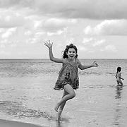 Emily on the beach.