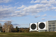 Outside view of Vasarely foundation in Aix-en-Provence, France.