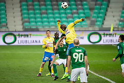 Joaquim Manuel Welo Lupeta of NK Celje during football match between NK Olimpija Ljubljana and NK Celje in 1st leg match in Semifinal of Slovenian cup 2017/2018, on April 4, 2018 in SRC Stozice, Ljubljana, Slovenia. Photo by Urban Urbanc / Sportida