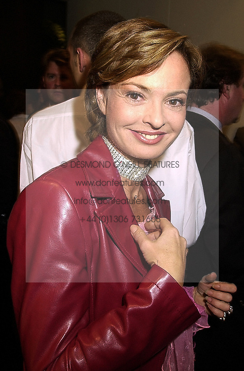 COUNTESS MAYA VON SCHONBURG ZU GLAUCHAU & WALDENBURG former wife of Friedrich Christian Flick, at a party in London on 1st November 2000.OIP 47