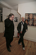 JAMES BIRCH AND JOHN DUNBAR, Exhibition of Polaroids by Rankin. The Gallery, 125 Charing Cross Road, London, WC2 7 December 2006. ONE TIME USE ONLY - DO NOT ARCHIVE  © Copyright Photograph by Dafydd Jones 248 CLAPHAM PARK RD. LONDON SW90PZ.  Tel 020 7733 0108 www.dafjones.com