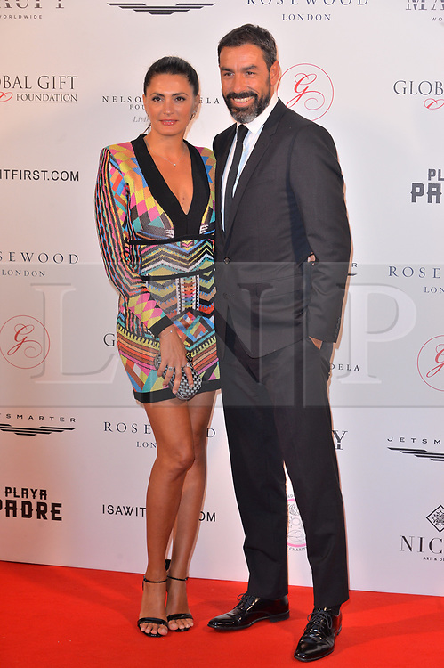 © Licensed to London News Pictures. 24/04/2018. London, UK. JESSICA LEMARIE-PIRES and ROBERT PIRES attends The Global Gift Foundation Nelson Mandela Centenary Dinner at Rosewood London. Photo credit: Ray Tang/LNP