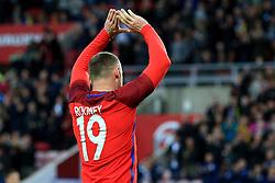 Wayne Rooney of England celebrates after scoring his sides second goal  - Mandatory by-line: Matt McNulty/JMP - 27/05/2016 - FOOTBALL - Stadium of Light - Sunderland, United Kingdom - England v Australia - International Friendly