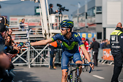 Rider of Movistar Team after the UCI WorldTour 103rd Liège-Bastogne-Liège from Liège to Ans with 258 km of racing at Ans, Belgium, 23 April 2017. Photo by Pim Nijland / PelotonPhotos.com | All photos usage must carry mandatory copyright credit (Peloton Photos | Pim Nijland)