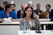 Wiesbaden | 11 May 2015<br /> <br /> NSU Untersuchungsausschuss Hessischer Landtag, 20. Sitzungstag, hier: Die Polizistin KOK (Kriminaloberkommissarin) Angela Schell im Ausschuss-Sitzungssaal vor ihrer Aussage. Frau Schell hat im April 2006 ein Telefonat zwischen Andreas Temme und Herrn Hess (beide Hessisches Landesamt f&uuml;r Verfassungsschutz) abgeh&ouml;rt und ein Protokoll dieses Gespr&auml;ches angefertigt.<br /> <br /> &copy;peter-juelich.com<br /> <br /> [Foto honorarpflichtig | Fees Apply | No Model Release | No Property Release]