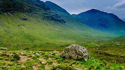 Glencoe - the footpath to Glen Etive, Highlands of Scotland<br /> <br /> (c) Andrew Wilson   Edinburgh Elite media