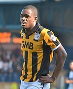 Uche Ikpeazu during the Sky Bet League 1 match between Bury and Port Vale at Gigg Lane, Bury, England on 19 September 2015. Photo by Mark Pollitt.