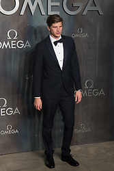 Tate Modern, London, April 26th 2017. Toby Huntington-Whitely arrives at the Tate Modern in London for the 'Lost In Space' 60th anniversary event for the Omega Speedmaster watch.