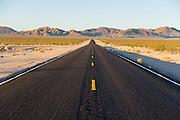 lonely desert road near Rhyolite, NV ghost town