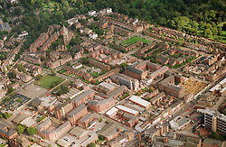 Ariel view of Radford and All Saints area in Nottingham with Arboretum; top left and general cemetery at top of the picture