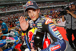 04.07.2010, Montmelo, Barcelona, ESP, MotoGP, Grand Prix von Katalonien im Bild Marc Marquez - Red bull Derbi team, EXPA Pictures © 2010, PhotoCredit: EXPA/ InsideFoto/ Semedia *** ATTENTION *** FOR AUSTRIA AND SLOVENIA USE ONLY! / SPORTIDA PHOTO AGENCY