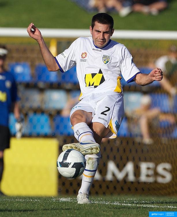 Steve Pantelidis in action during the Newcastle Jets V Gold Coast United A-League match at Energy Australia Stadium, Newcastle, Australia, 13 December 2009. Photo Tim Clayton