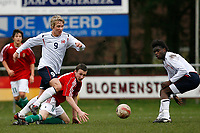 Fotball<br /> Kvalifisering EM U17<br /> 13.03.2008<br /> Norge v Ungarn<br /> Foto: ProShots/Digitalsport<br /> NORWAY ONLY<br /> <br /> Stefan Johansen, Istvan Kovacs en Christian Landu Landu