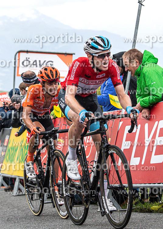12.07.2019, Kitzbühel, AUT, Ö-Tour, Österreich Radrundfahrt, 6. Etappe, von Kitzbühel nach Kitzbüheler Horn (116,7 km), im Bild v.l. Riccardo Zoidl (AUT, CCC Team), Ben Hermans (BEL, Israel Cycling Academy) im roten Flyeralarm Trikot des Gesamtsiegers der Österreich Rundfahrt // f.l. Riccardo Zoidl of Austria (CCC Team) Ben Hermans of Belgium (Team Israel Cycling Academy) during 6th stage from Kitzbühel to Kitzbüheler Horn (116,7 km) of the 2019 Tour of Austria. Kitzbühel, Austria on 2019/07/12. EXPA Pictures © 2019, PhotoCredit: EXPA/ Reinhard Eisenbauer