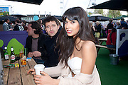 TOM CHAMBERS; JAMEELA JAMIL, Udderbelly launch party. South Bank. London. 13 May 2010. -DO NOT ARCHIVE-© Copyright Photograph by Dafydd Jones. 248 Clapham Rd. London SW9 0PZ. Tel 0207 820 0771. www.dafjones.com.