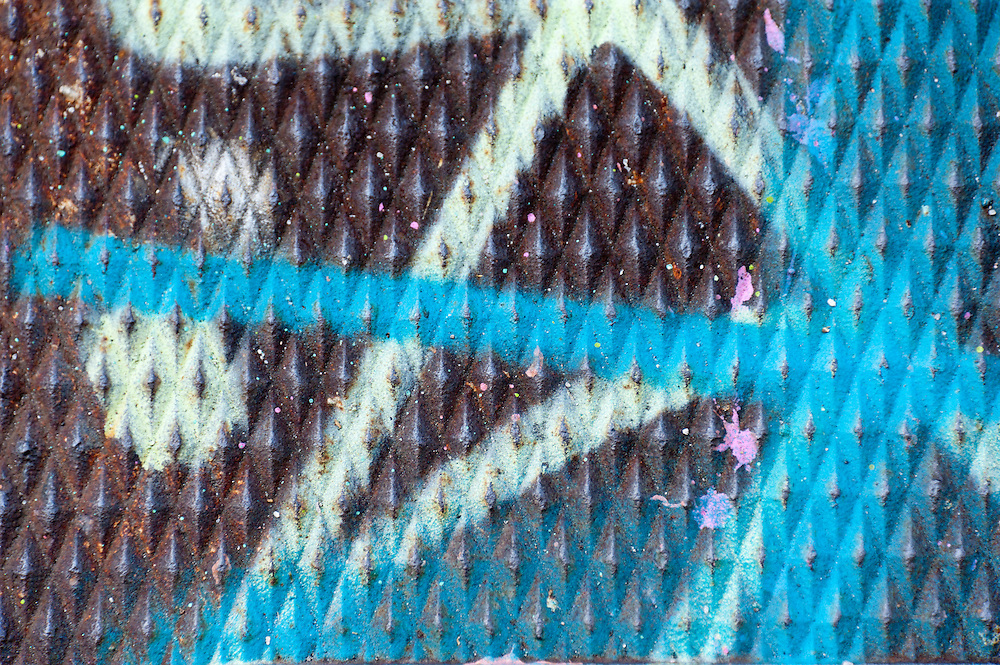Steel metal pattern rusted and painted