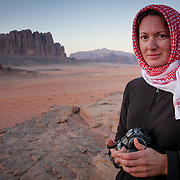 All rugged up, Wadi Rum, Jordan (December 2007)