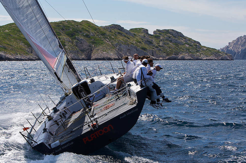Platoon Powered by Team Germany during the Coastal race of the AUDI Medcup in Marseille