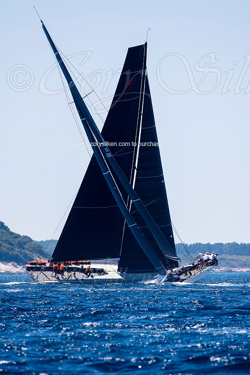 Cannonball and Momo sailing in the  Corfu Challenge, day four.