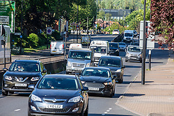 © Licensed to London News Pictures. 11/05/2020 8am. London, UK. Heavy traffic seen on the A3 London bound for the first time in months this morning after the Prime Minister Boris Johnson called for workers who can't work from home to go back to work where possible in his address to the Nation on Sunday on easing the current lockdown situation. Photo credit: Alex Lentati/LNP