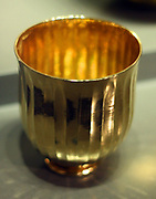 gold beaker 3rd century BC, Greek