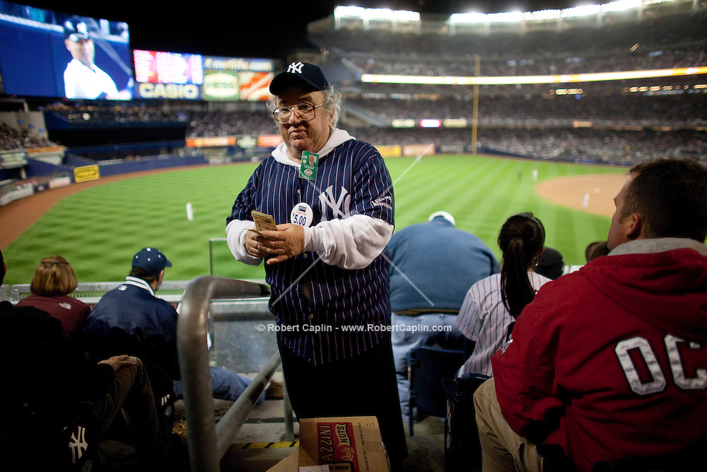 Vendor Bradford Kaufman sells peanuts during Game 1 of the 2009 World Series between the New York Yankees and The Philadelphia Phillies in Bronx, NY. (Photo by Robert Caplin)..