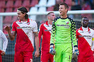 Onderwerp/Subject: FC Utrecht - Eredivisie<br /> Reklame:  <br /> Club/Team/Country: <br /> Seizoen/Season: 2012/2013<br /> FOTO/PHOTO: Dave BULTHUIS (L) of FC Utrecht and Goalkeeper Robbin RUITER (R) of FC Utrecht celebrating after the match ( 3 - 1 ). (Photo by PICS UNITED)<br /> <br /> Trefwoorden/Keywords: <br /> #02 $94 ±1354626289759<br /> Photo- & Copyrights © PICS UNITED <br /> P.O. Box 7164 - 5605 BE  EINDHOVEN (THE NETHERLANDS) <br /> Phone +31 (0)40 296 28 00 <br /> Fax +31 (0) 40 248 47 43 <br /> http://www.pics-united.com <br /> e-mail : sales@pics-united.com (If you would like to raise any issues regarding any aspects of products / service of PICS UNITED) or <br /> e-mail : sales@pics-united.com   <br /> <br /> ATTENTIE: <br /> Publicatie ook bij aanbieding door derden is slechts toegestaan na verkregen toestemming van Pics United. <br /> VOLLEDIGE NAAMSVERMELDING IS VERPLICHT! (© PICS UNITED/Naam Fotograaf, zie veld 4 van de bestandsinfo 'credits') <br /> ATTENTION:  <br /> © Pics United. Reproduction/publication of this photo by any parties is only permitted after authorisation is sought and obtained from  PICS UNITED- THE NETHERLANDS