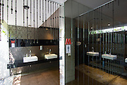 Thonglor (Sukhumvit Soi 55), at this time Bangkok's most fashionable area. Red Contemporary Indian Dining. The toilets.