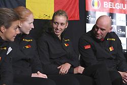 February 8, 2019 - Liege, France - Alison VAN UYTVANCK, Elise MERTENS, Johan VAN HERCK captain of Belgium (Credit Image: © Panoramic via ZUMA Press)