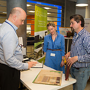 04.04.2017         <br /> Digitisation and Archives professionals from the Gluksman Library University of Limerick presented a talk on Attics to Archives at the Bank of Ireland Workbench for the Limerick Lifelong Learning Festival.<br /> Pictured at the event were, Dr. Vincent O'Connell, UL, Evelyn McAuley, Glucksman Library  and  Randel Hodkinson who brought a collection of designs from J Hodkinson & Sons Ecclesiastical Decorators dating back as far as 1852. Picture: Alan Place