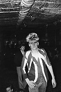 A Punk, 'Siouxsie and the Banshees' fan, at a gig, UK 1980
