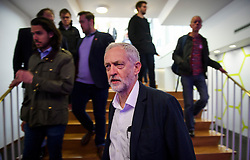 © Licensed to London News Pictures. 14/05/2016. London, UK. Leader of the Labour Party, JEREMY CORBYN arrives before giving a keynote address to Progress annual conference at TUC Congress Centre in London. Photo credit: Ben Cawthra/LNP