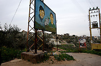 southern lebanon is littered with posters of martyrs...
