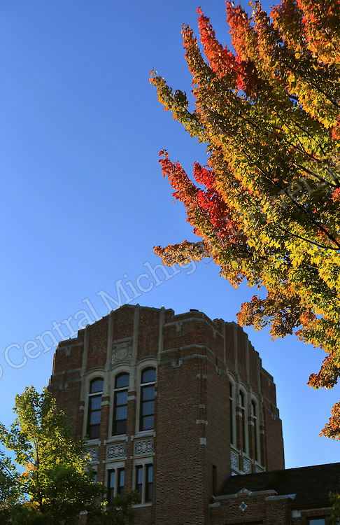 Fall Color scenics, Warriner Mall, October 2013. Central Michigan University photo by Steve Jessmore