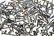 assortment of screws nuts bolts and washers