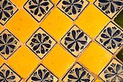 MEXICO, COLONIAL, PUEBLA San Francisco Acatepec, tiled facade