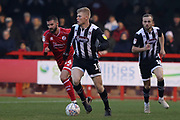 Elliott Whitehouse of Grimsby Town during the EFL Sky Bet League 2 match between Crawley Town and Grimsby Town FC at The People's Pension Stadium, Crawley, England on 25 January 2020.
