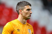 Hull City defender Eric Lichaj (2) warms up prior to the EFL Sky Bet Championship match between Charlton Athletic and Hull City at The Valley, London, England on 13 December 2019.
