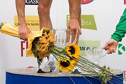 Flower cermony in Novo mesto after 4th stage of Tour de Slovenie 2009 from Sentjernej to Novo mesto, 153 km, on June 21 2009, Slovenia. (Photo by Vid Ponikvar / Sportida)