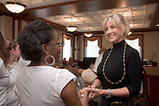 18218Ohio Women Making a Difference Conference: Sponsored by The Ohio University Foundation's Women in Philanthropy initiative..Erin Brockovich greets Teri Cross-Davis (BSJ'98). poetry & lectures coordinator, Folger Shakespeare Library
